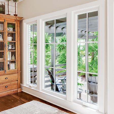 Interior casement windows.