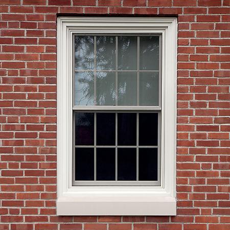 Exterior single hung window.