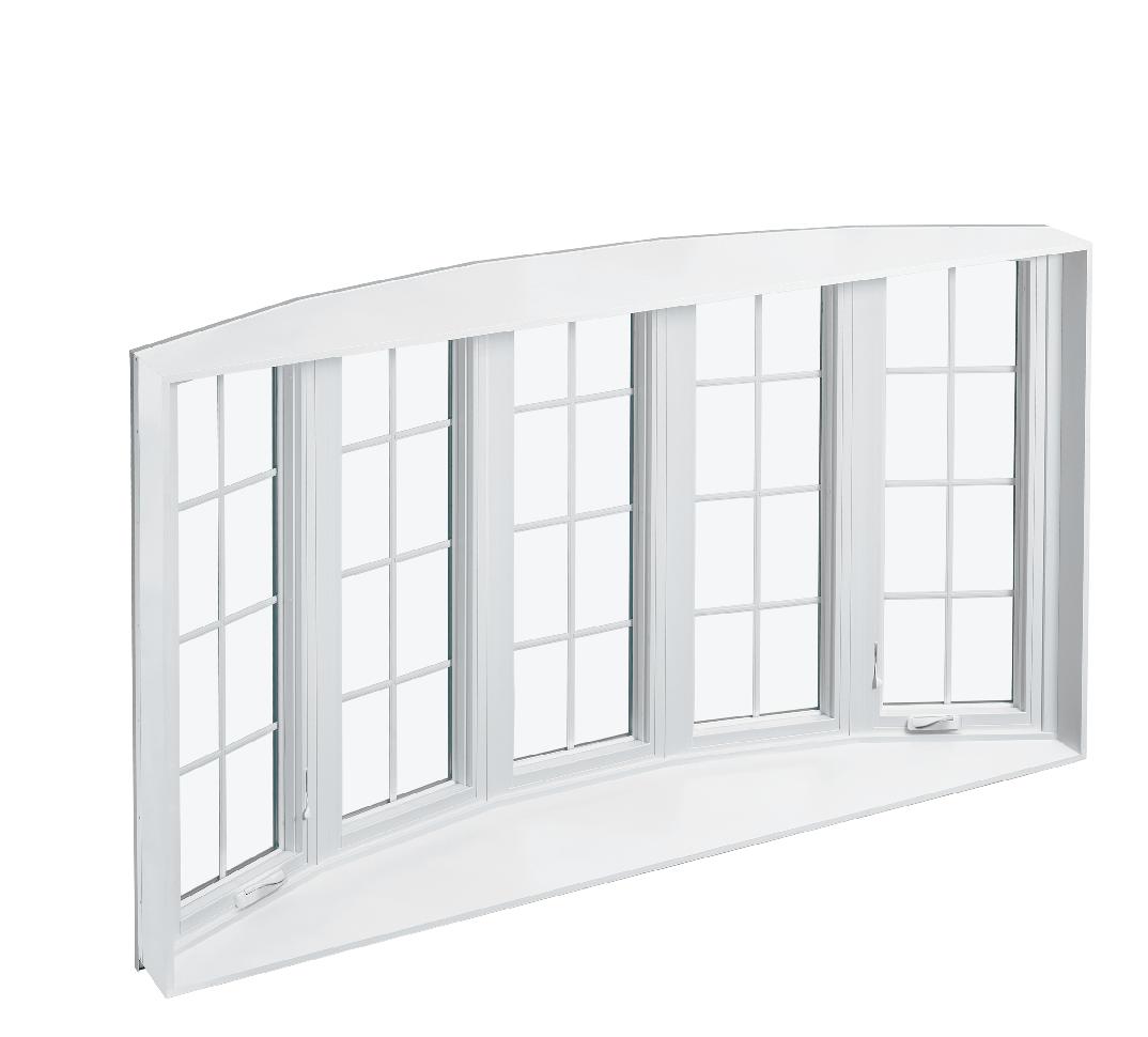 Bow window interior rendering.