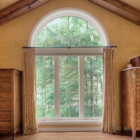 Interior view of round top window.