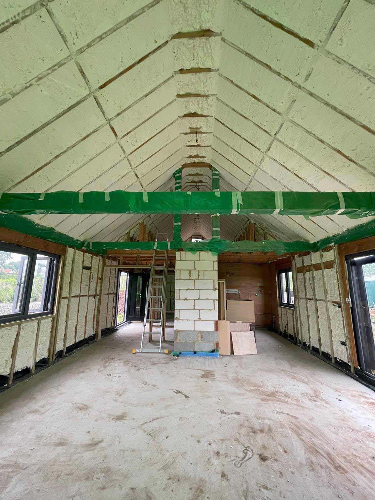 barn conversion foam insulation