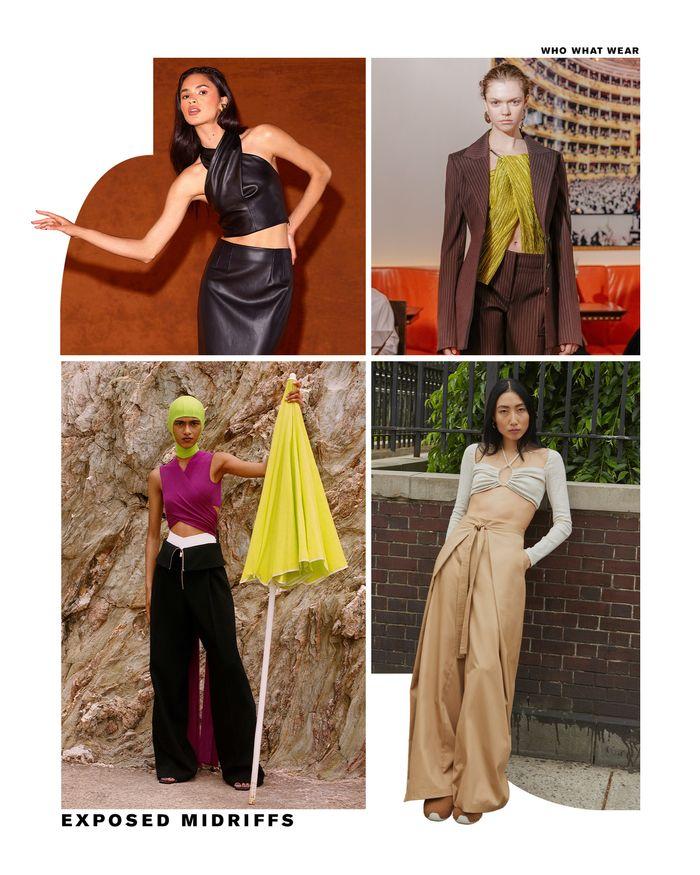 Resort fashion trends 2022: exposed midriffs