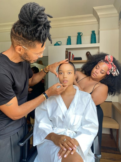 My glam team Naeemah and Tyron are working their magic on my hair and makeup. Their energy is so calming and their vibe...