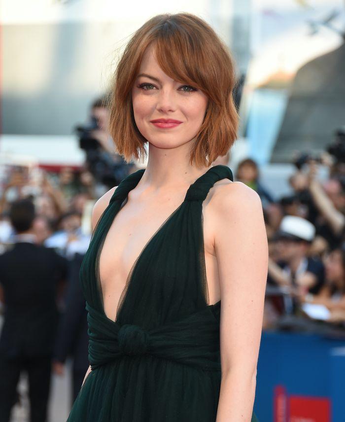 Emma Stone fine hairstyles