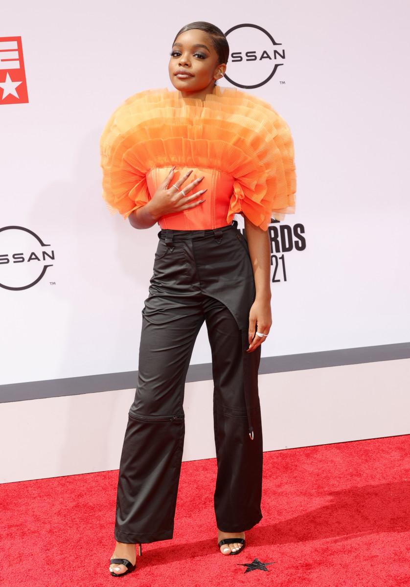 Martin wearing Annakiki at the 2021 BET Awards.
