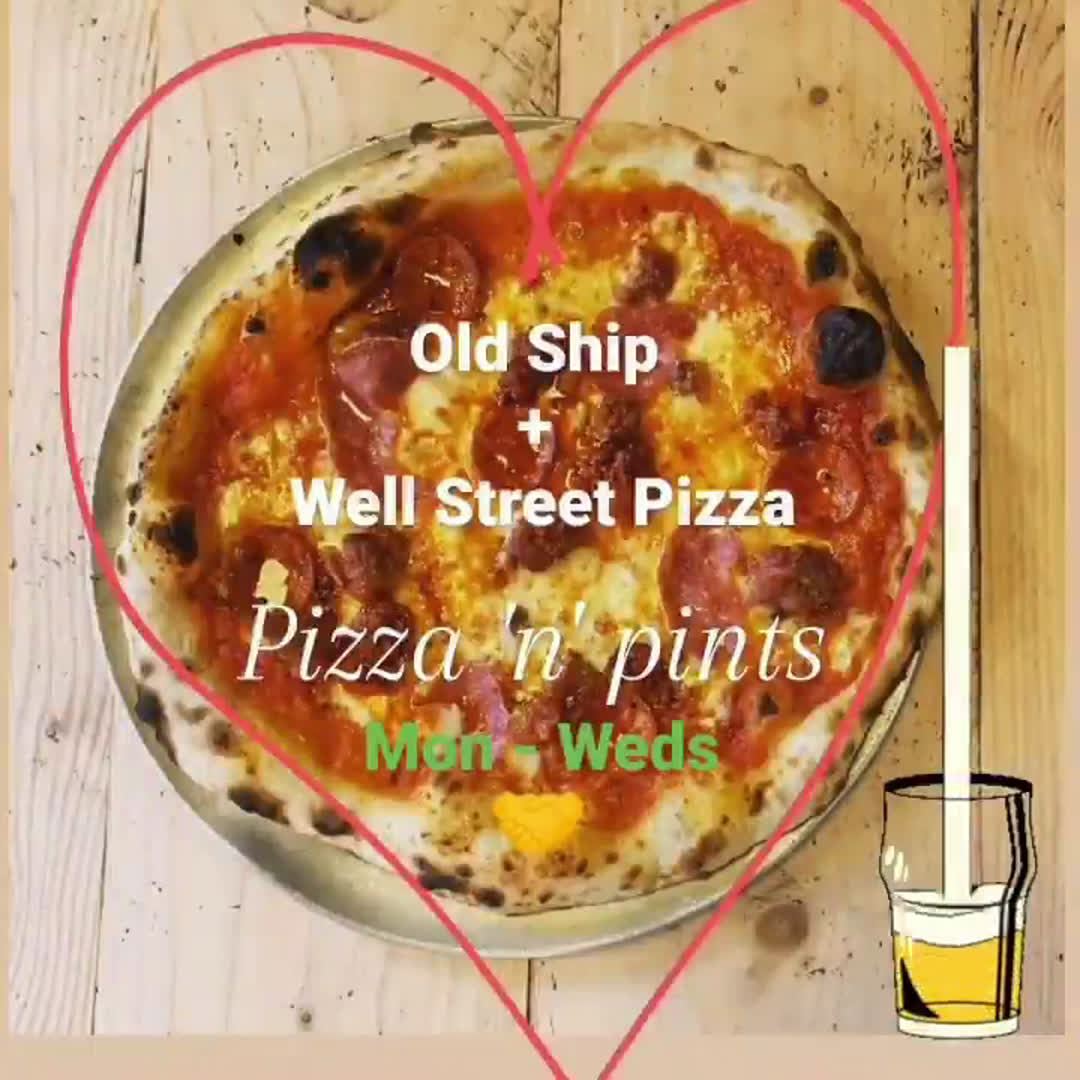 If you find yourself at our sister bar, the Old Ship you can order Well Street Pizza straight to their patio! Pizza at the pub, what more could you want? Available Mon-Weds from this Monday 🍻🍕 . . . #pizza #hackney #delivery #pub #pint #youwantapizzame #outdoors