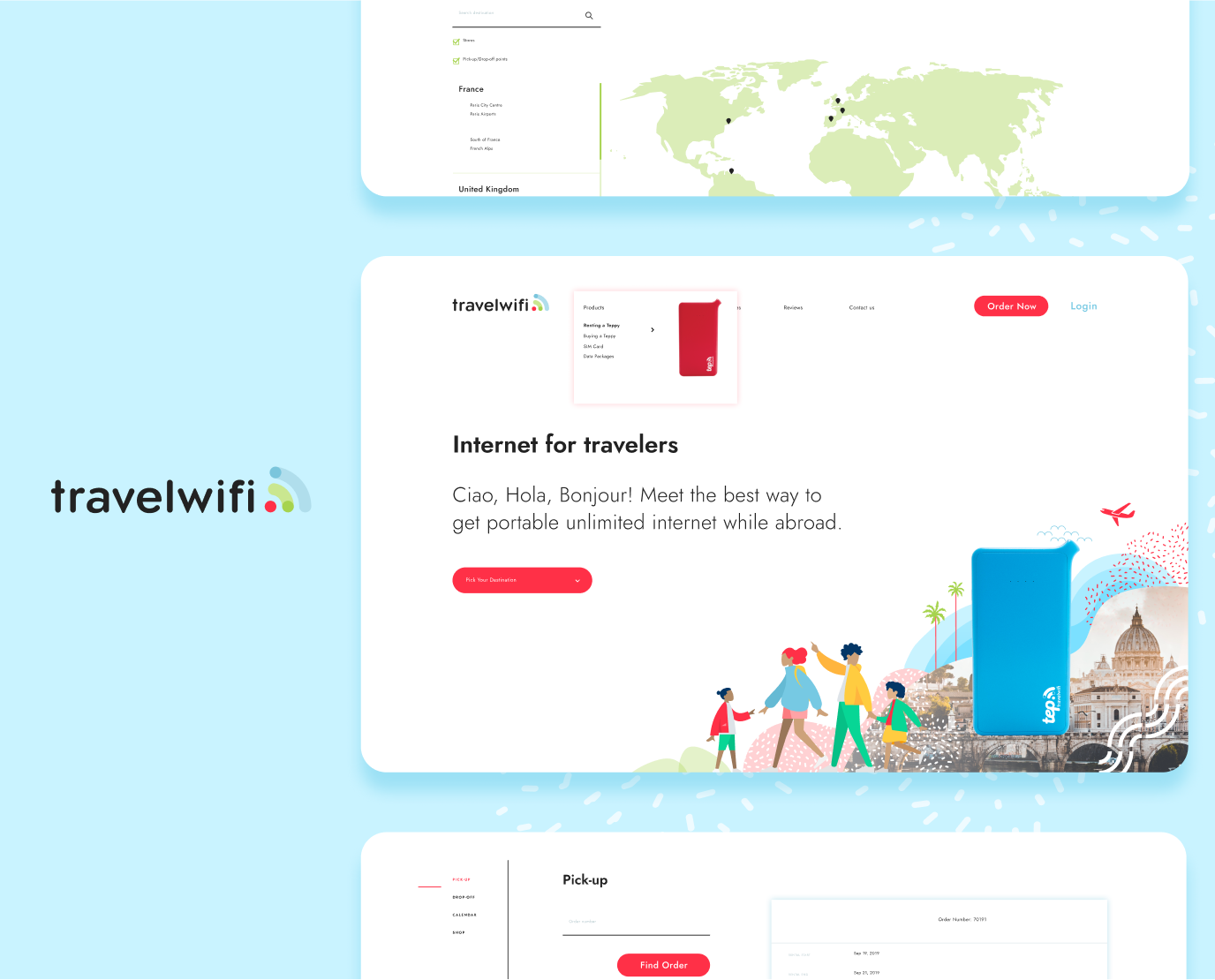 Imaginary Cloud's TravelWifi case study: We have created a new e-commerce platform for TravelWifi to propel their growth and support the launch of multiple products and languages.