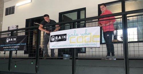RAIN Interns, Rowan and Nick help maintain the facility this summer