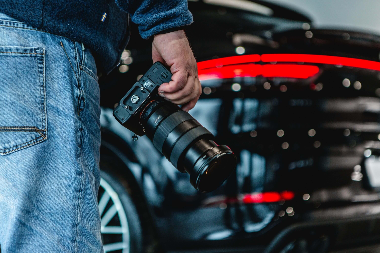 Bilfotografering detalj