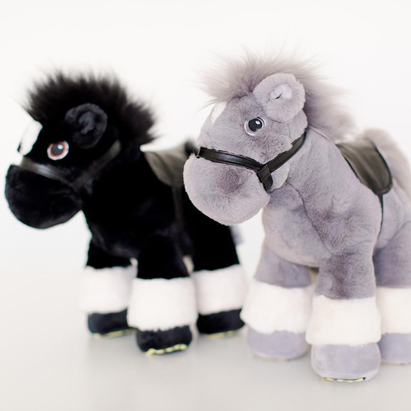 Grey Classic Plush Horse - Truffles