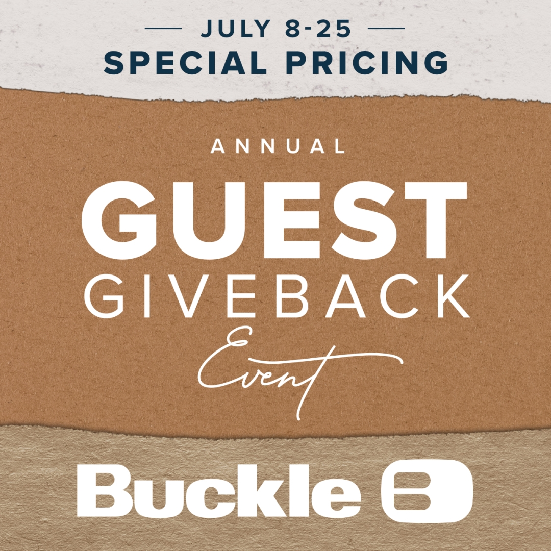 guest giveback event buckle