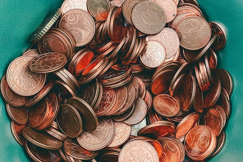 Ein Haufen Geldstücke