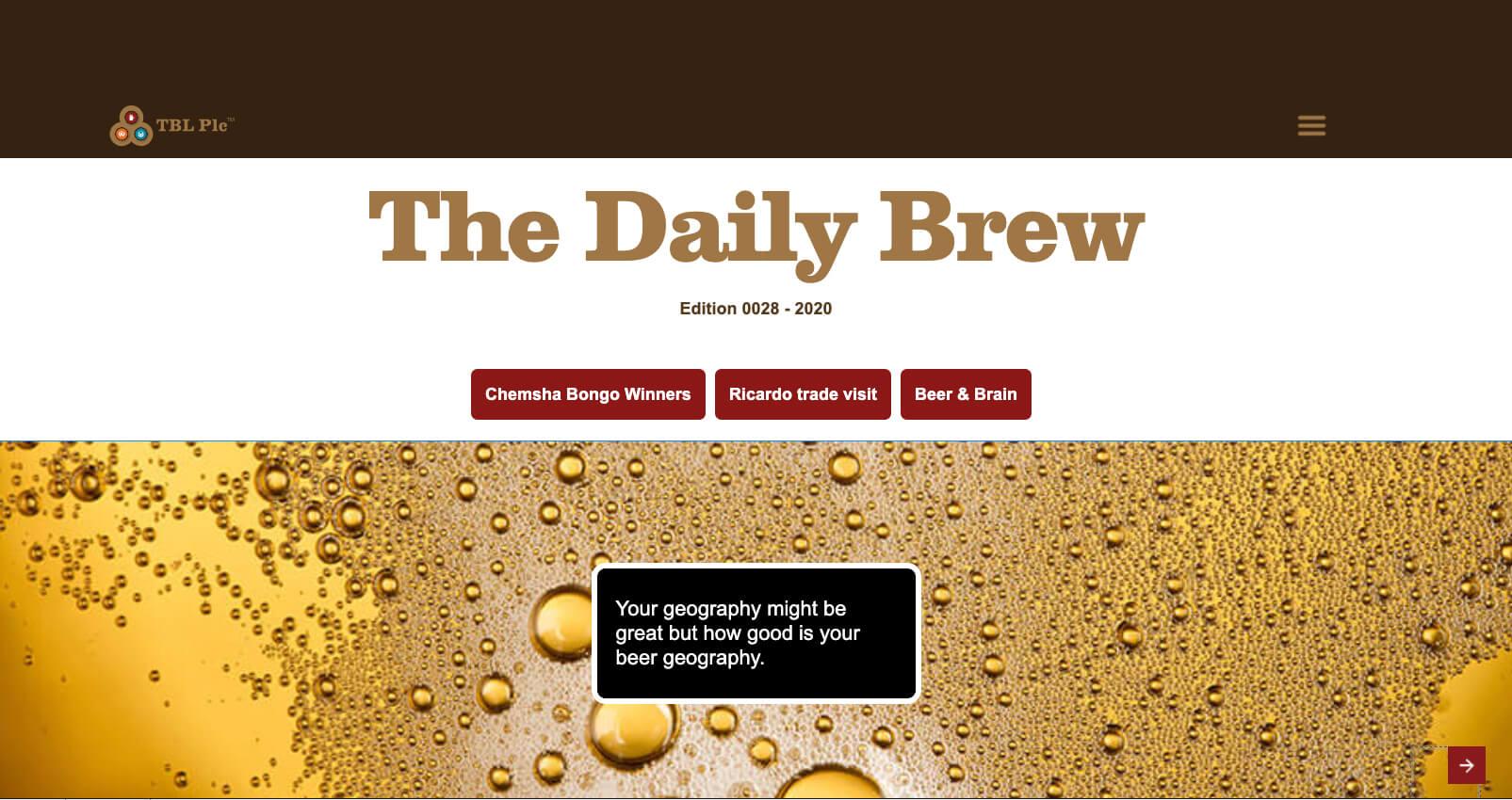 cover design Daily Brew, digital magazine, dutch tembo