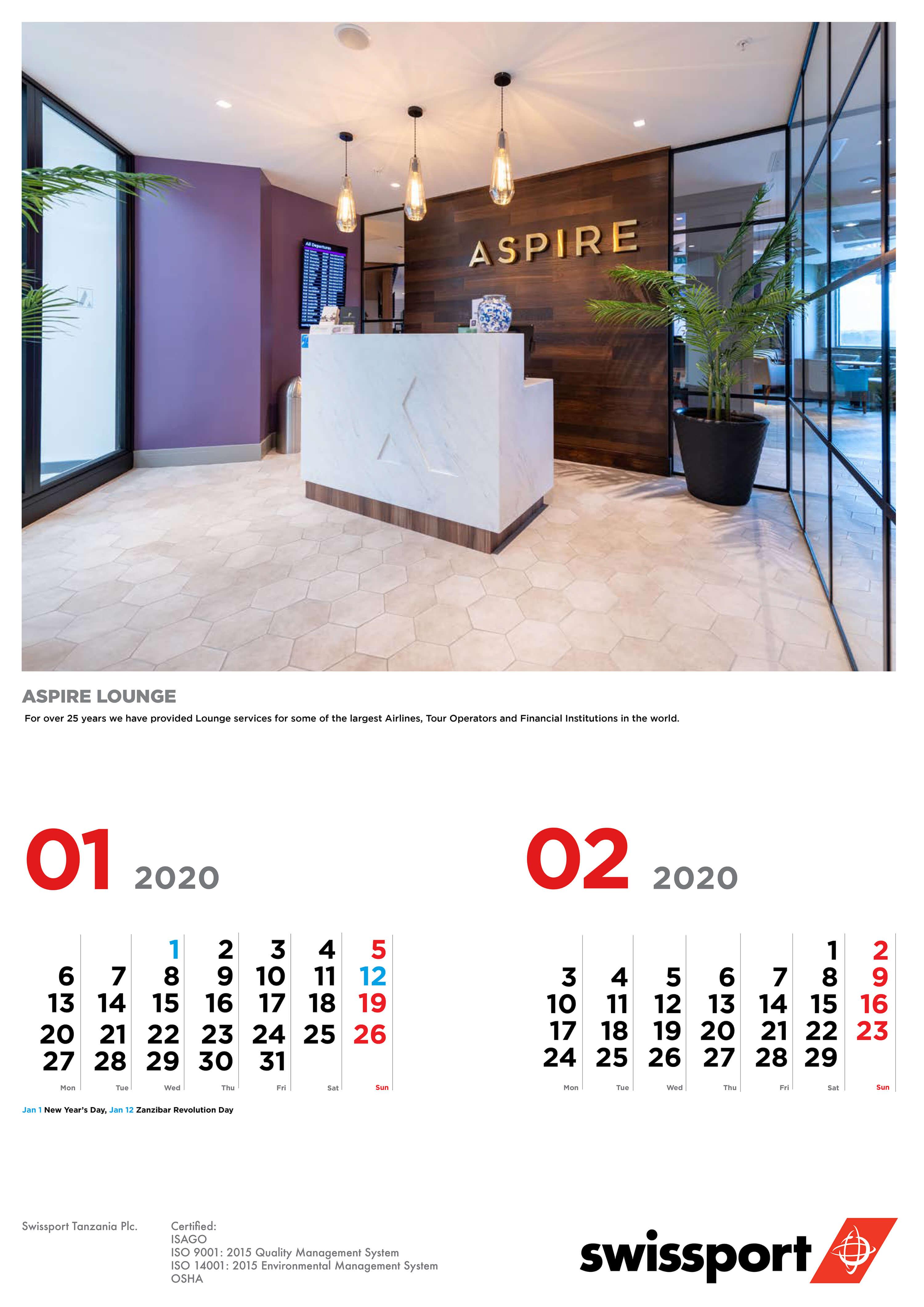 Calendar design Dutch Tembo