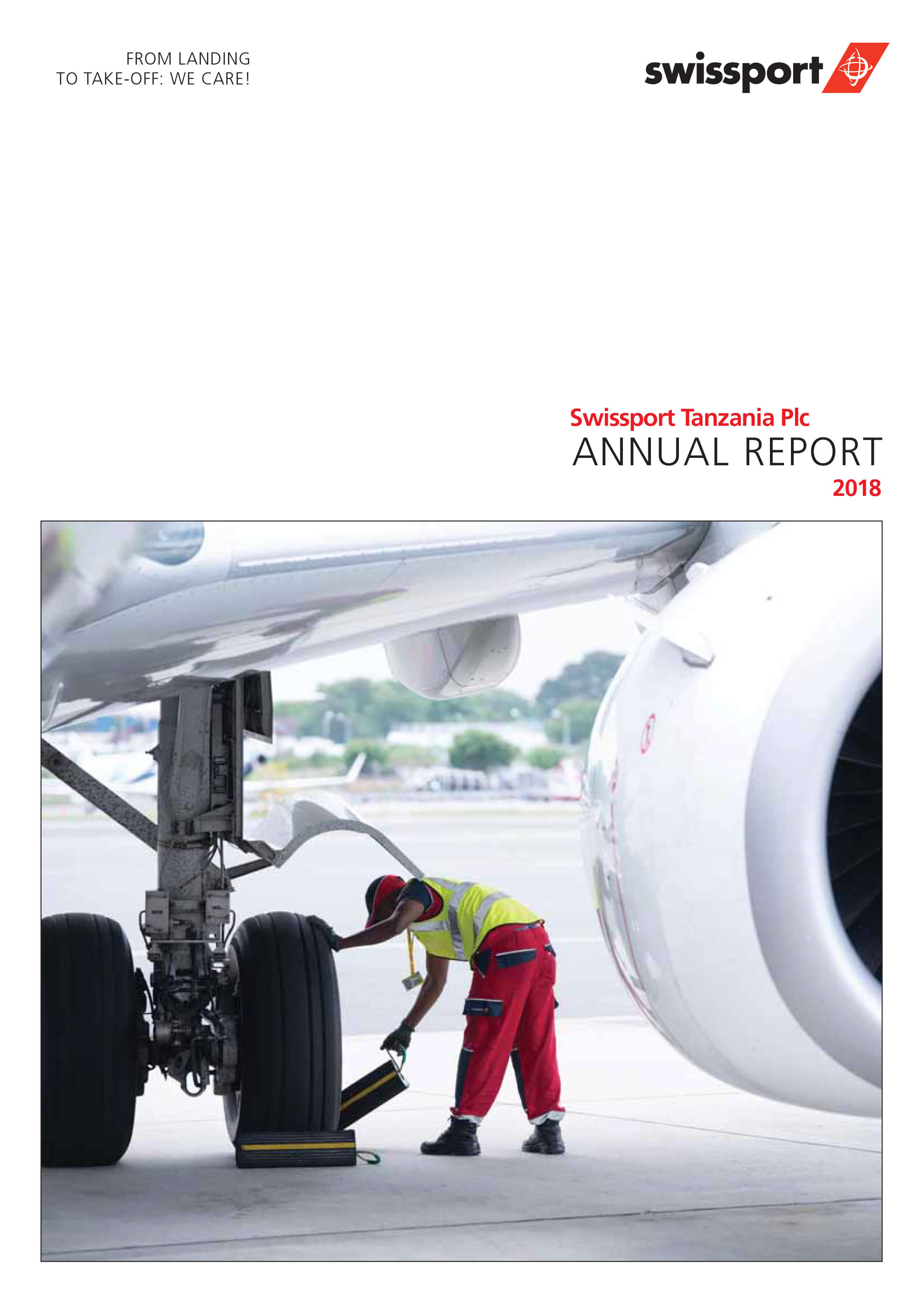 cover design of annual report of Swispport Tanzania 2018 by William Janssens