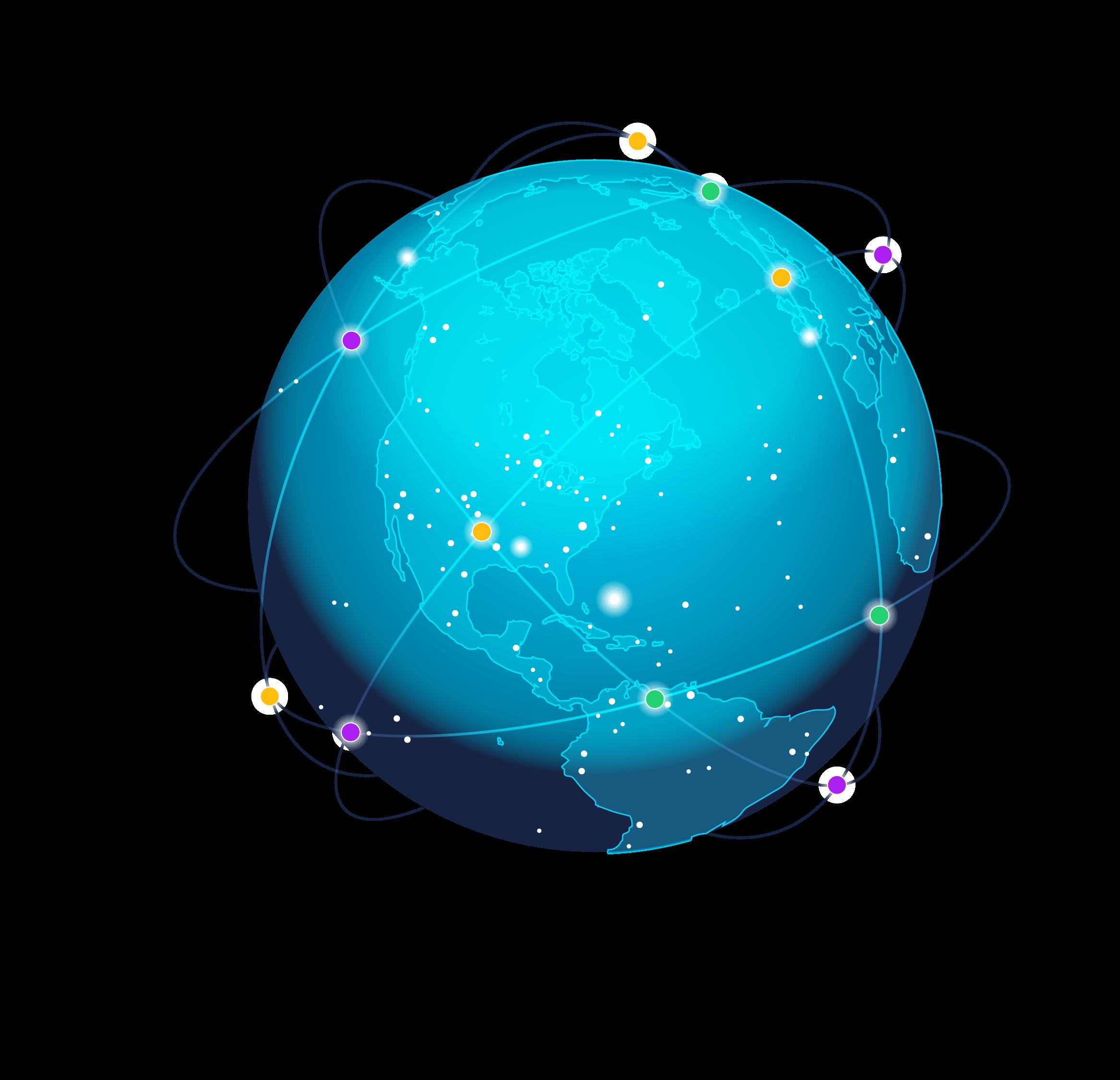 An illustration of a globe.