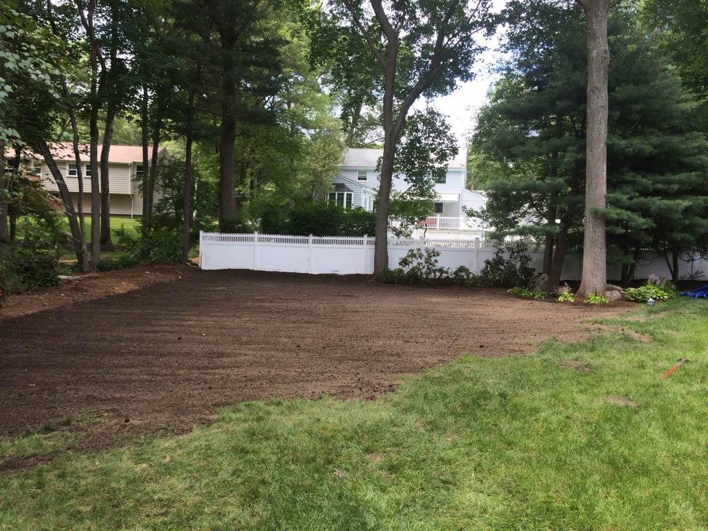 Landscaping in progress, Needham, MA