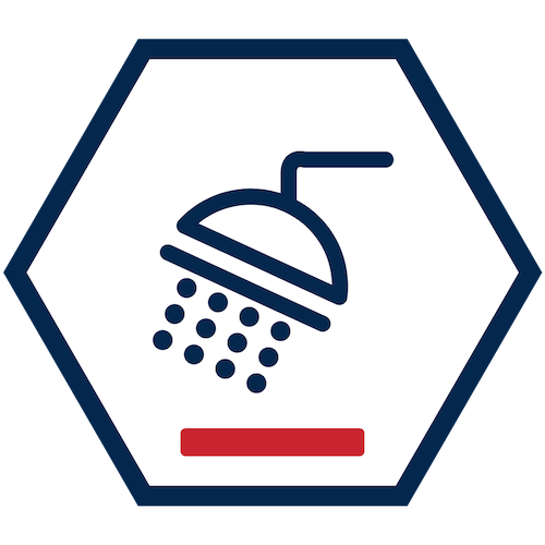 Low Water Pressure in Shower Icon