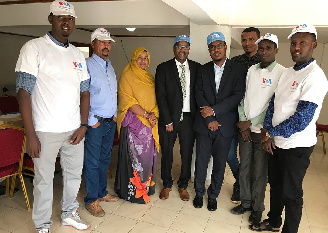 Countering Violent Extremism (CVE) reporting training in Djibouti City