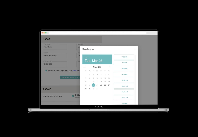 Patient Booking Flow Screenshot