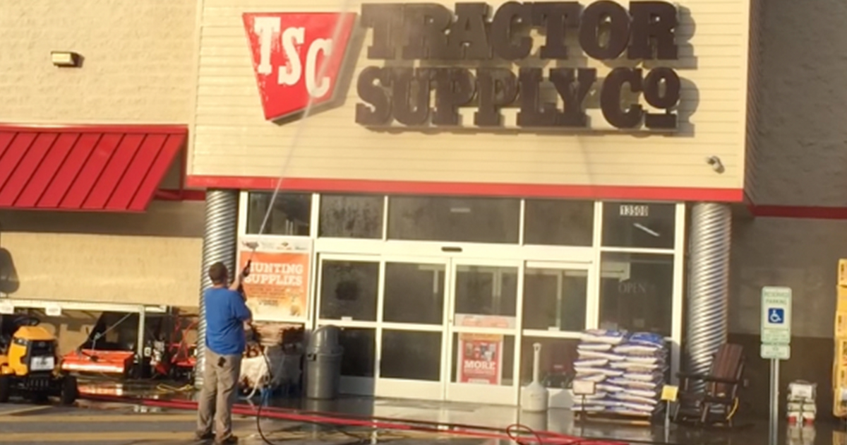 storefront pressure washing services