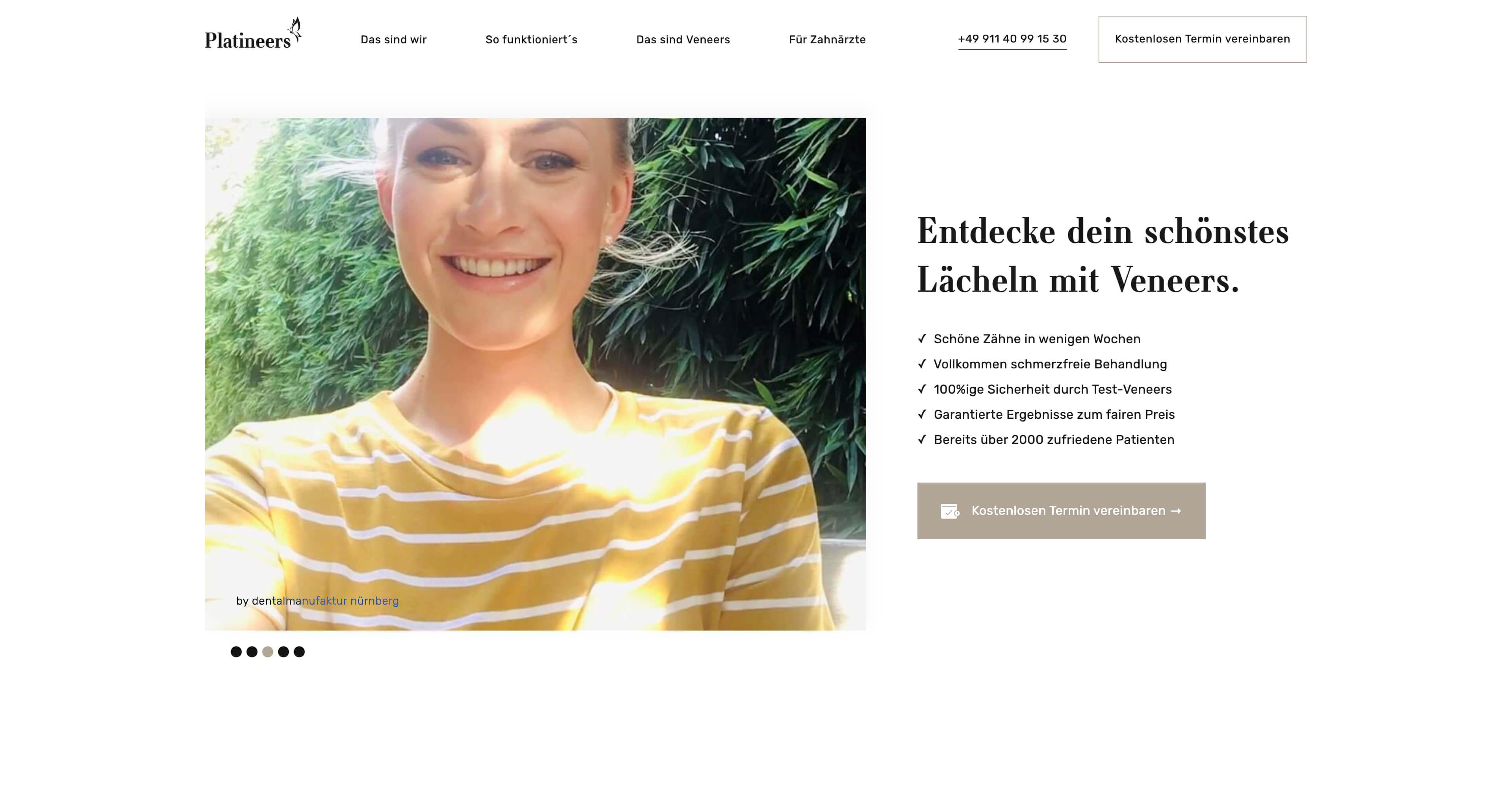 Bild der Website von Platineers - erstellt von Hofling Studio für Webdesign.