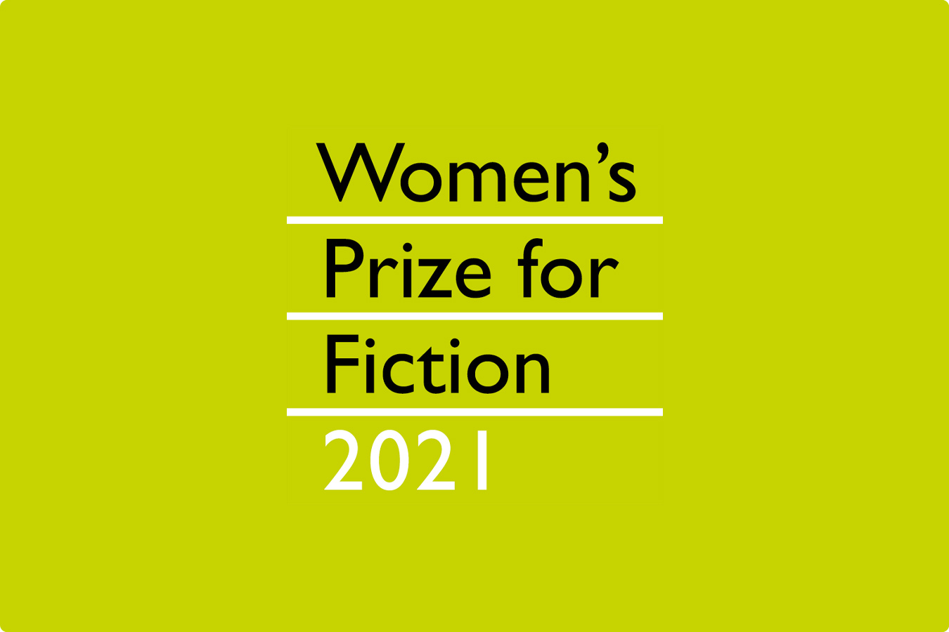 """Women's Prize for Fiction 2021"" on a lime green background."