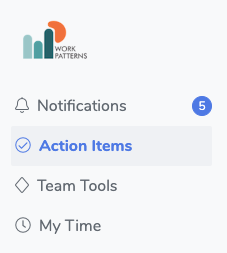 see all action items in workpatterns the people management app