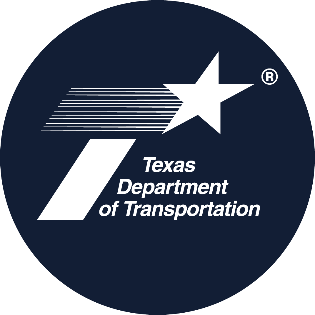 TxDot Navy Blue Circle Logo