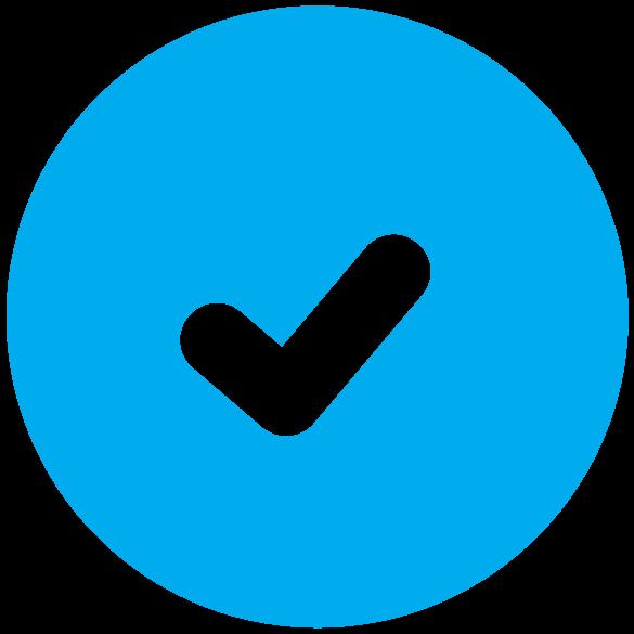 Blue Check Mark Icon