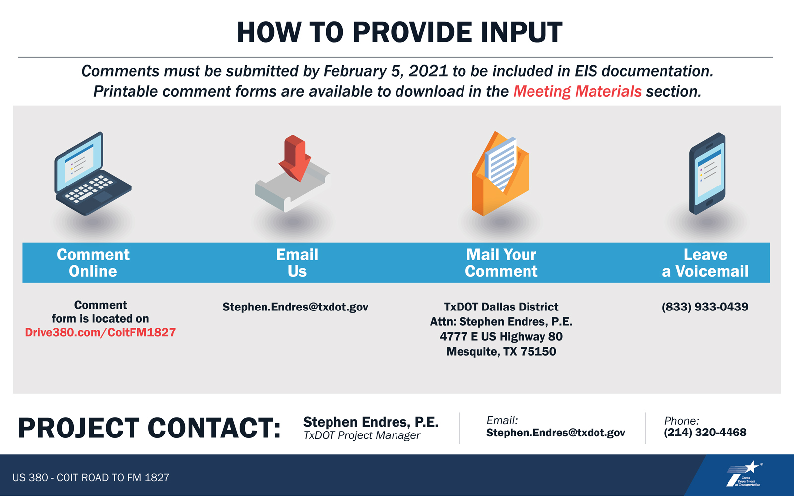 VIRTUAL PUBLIC MEETING BOARD: How to provide Input