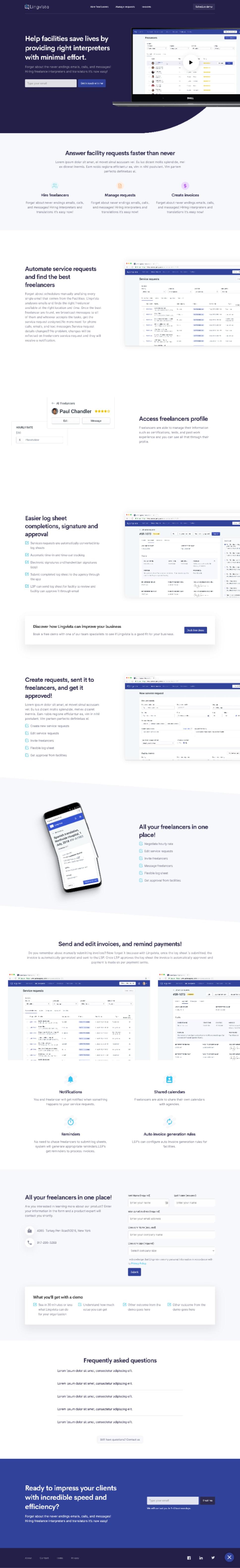 Screenshot of Linguista website