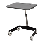 Kore Sit-Stand Mobile Student Desk Grey