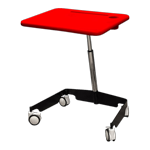 Kore Sit-Stand Mobile Student Desk Red