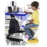 Kids Sit-Stand Mobile Desk