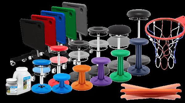 Kores Wobble Chairs & Mobile Desks