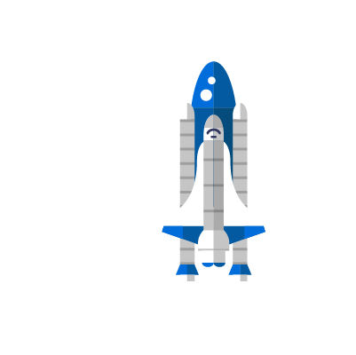 a rocket ship that depicts upward growth