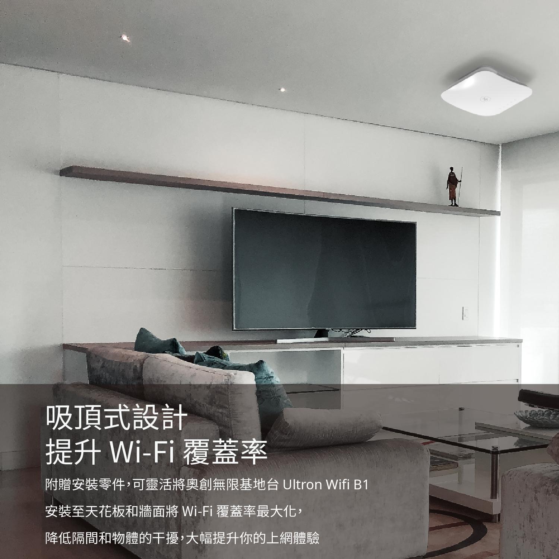奧創無限基地台 B1 適用大坪數的商用與家用空間