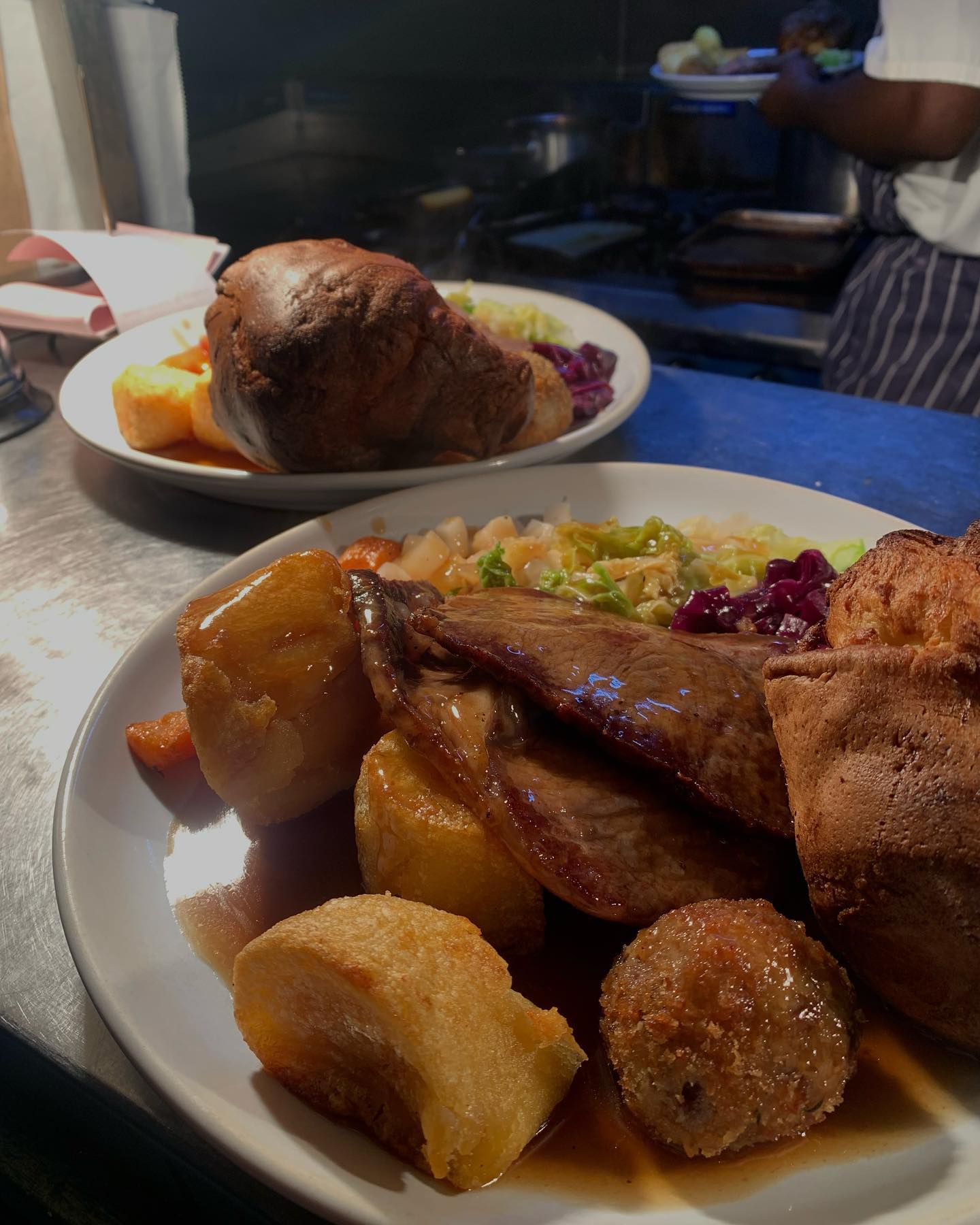 Come on down and try our Sunday roasts!! Veggie and vegan options available. Why not pair it with a Bloody Mary🍹