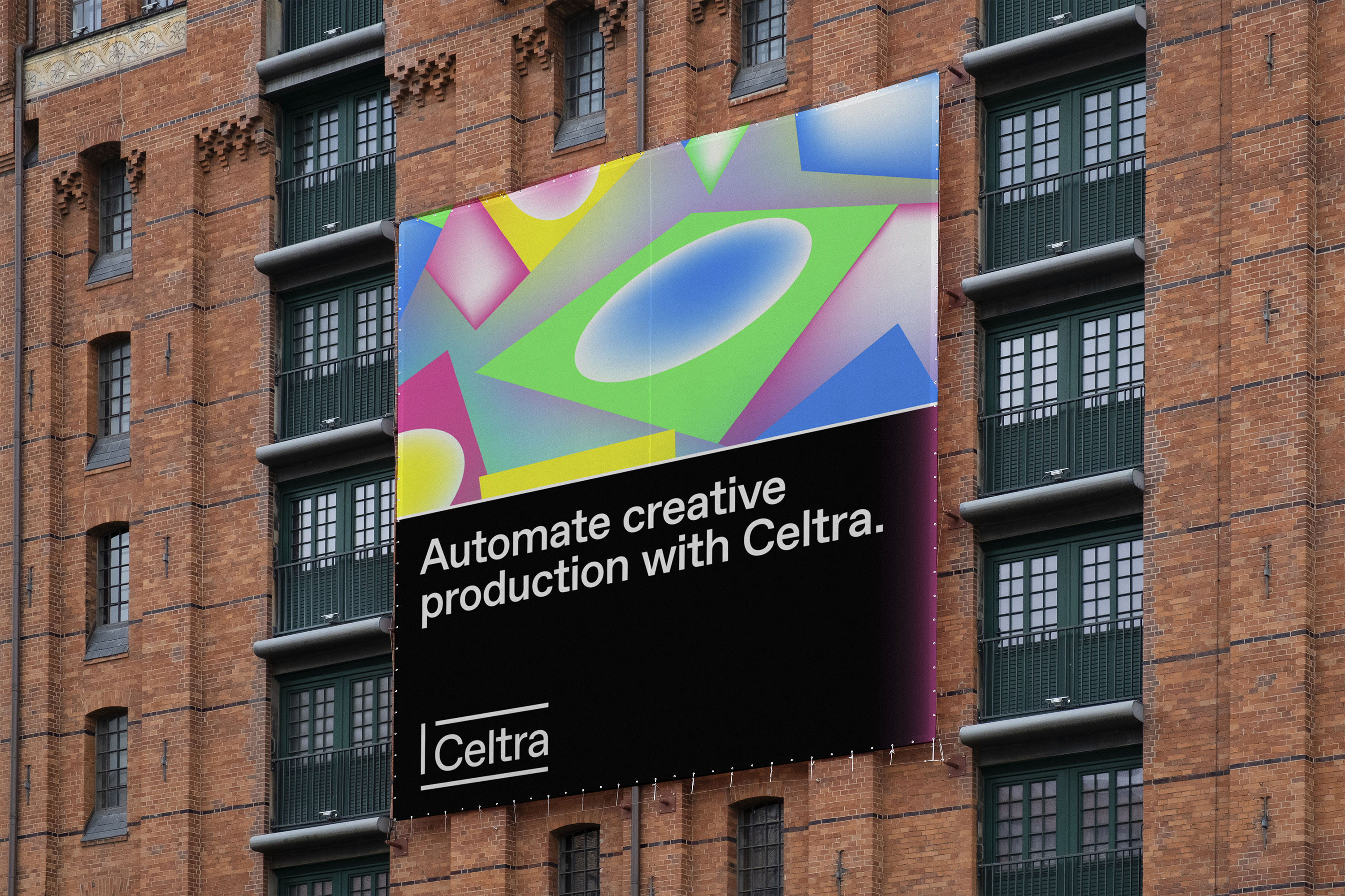 A mockup of Celtra outdoor ad.