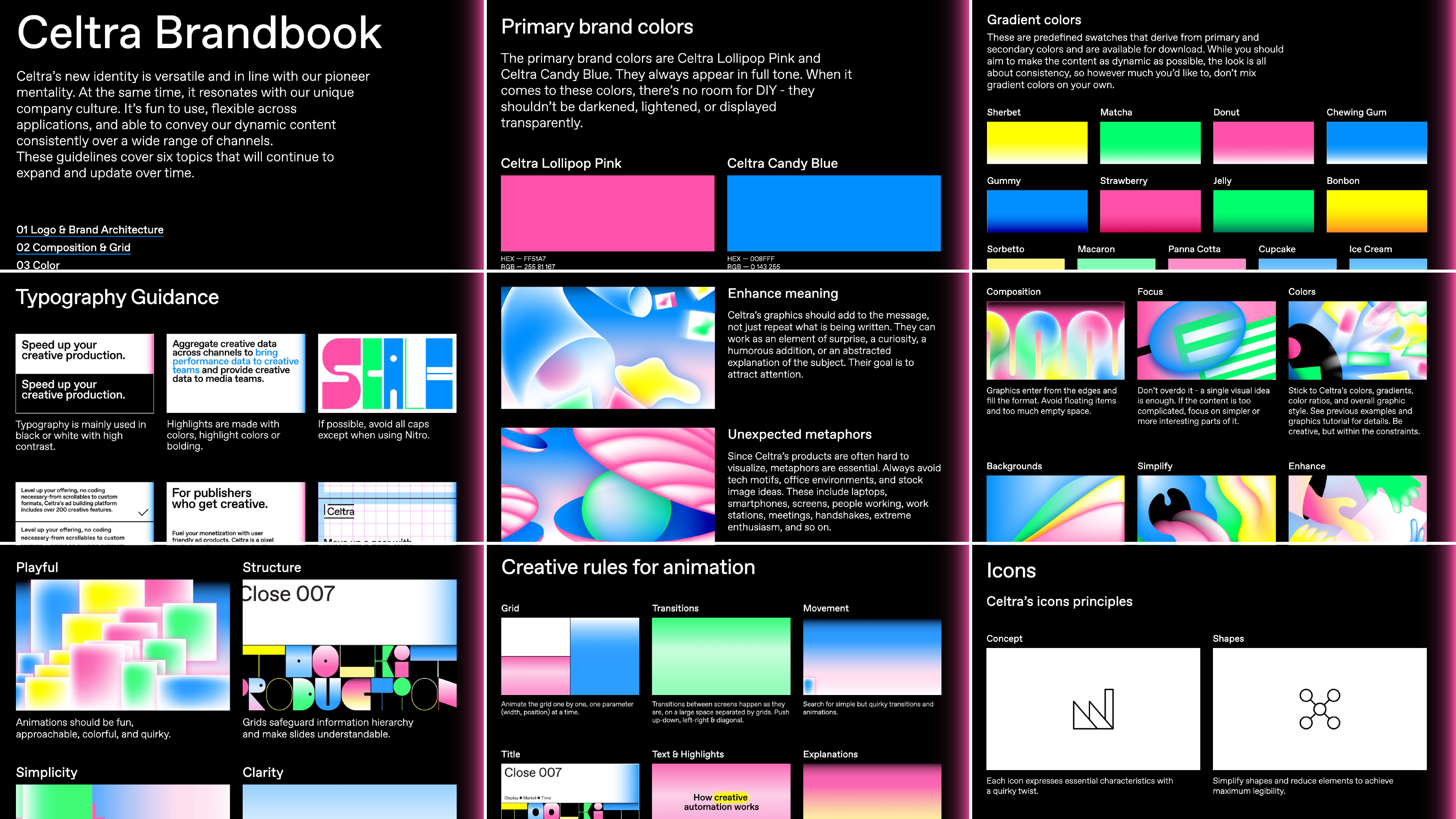 Online brandbook designed for Celtra.