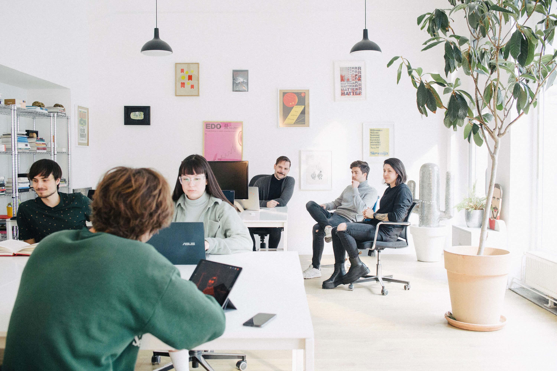 Ljudje team working in Ljubljana office.