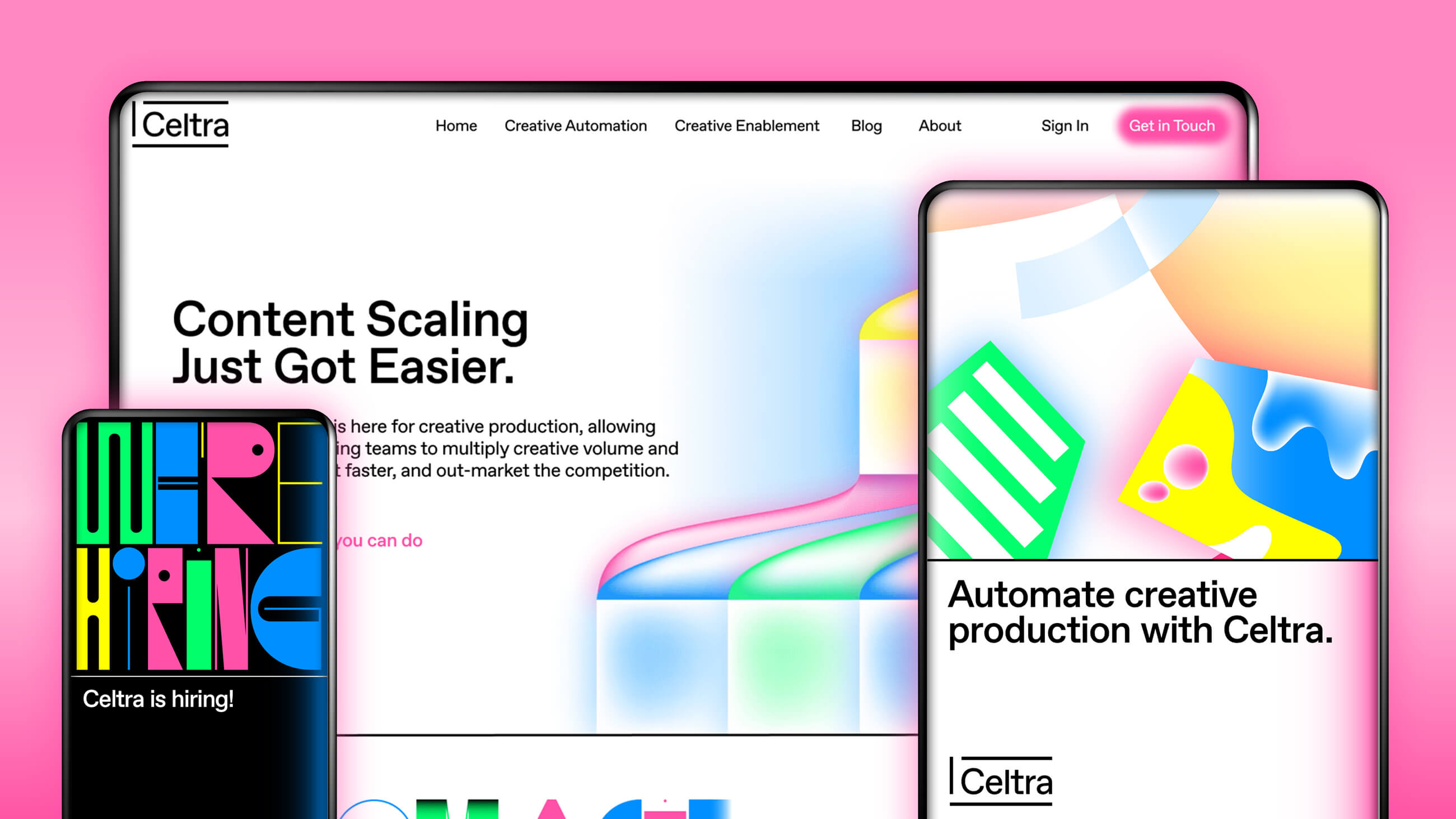Celtra digital design on various devices.