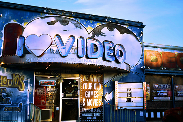 Local Video Rental Storefront