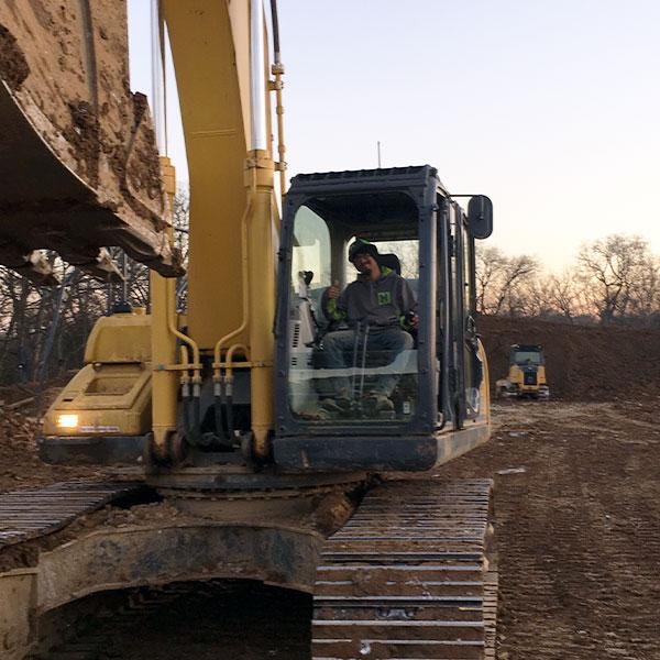 Excavation Operator on Job site