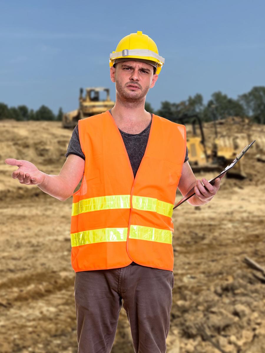 Contractor shrugging