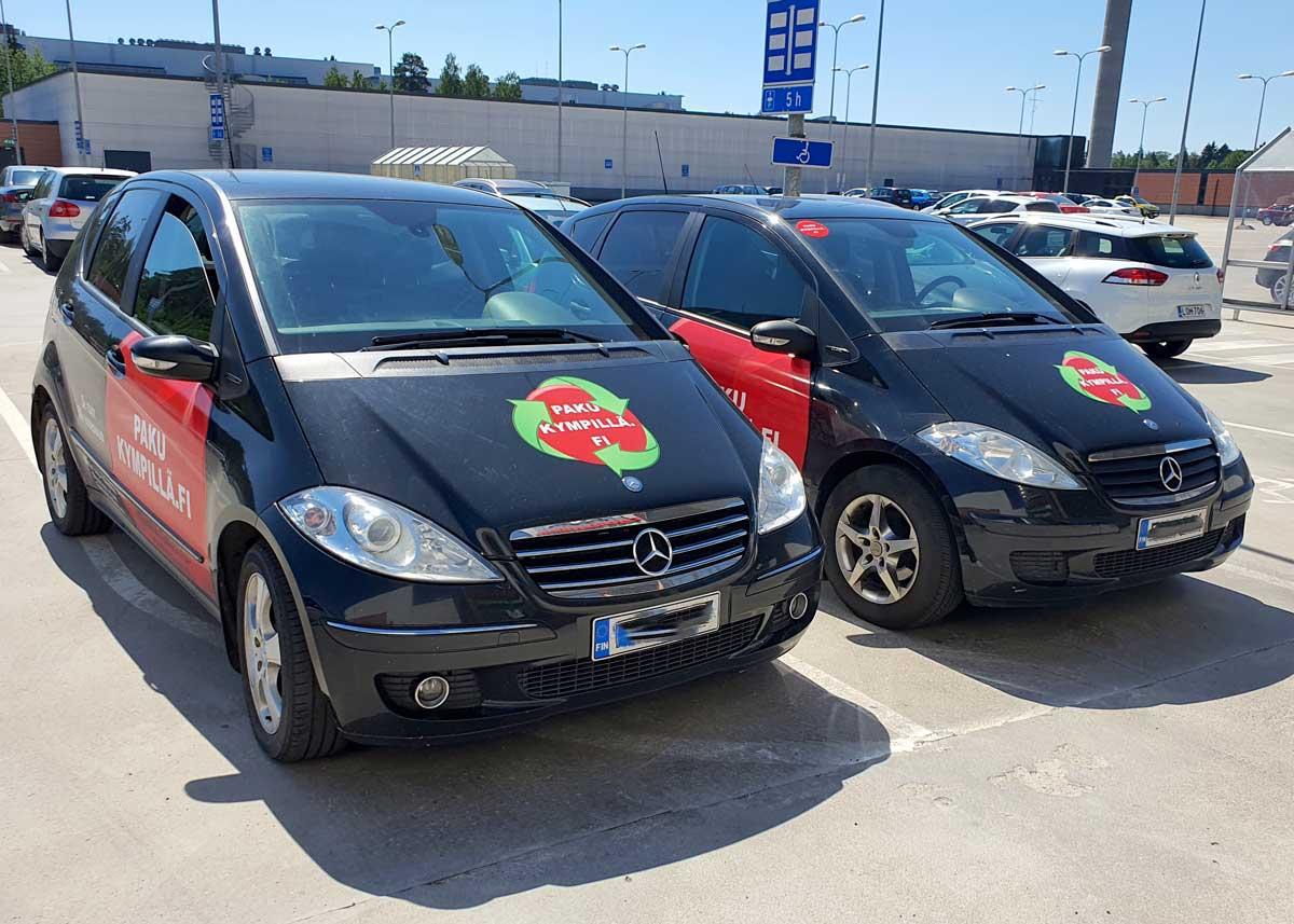 Pakukympillä henkilöautovuokraus Mercedes-Benz