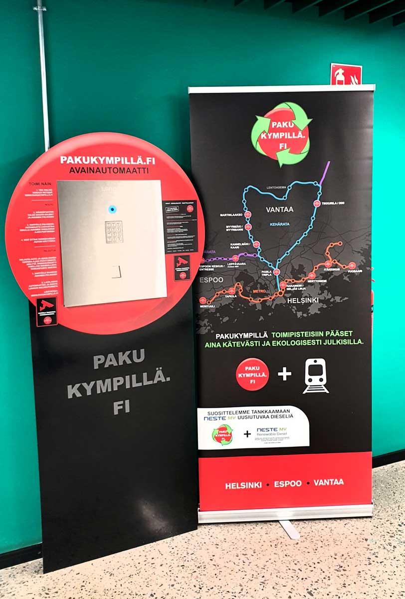 Tripla avainautomaatti pakukympillä