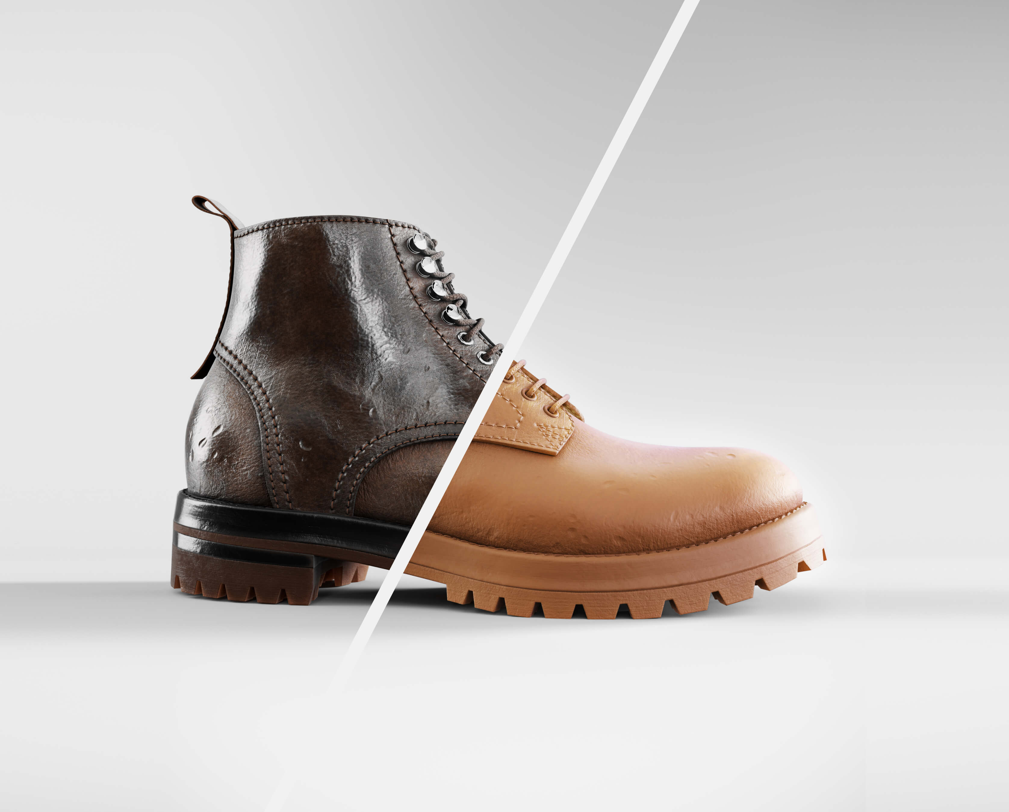 Polyte digital photography boot render