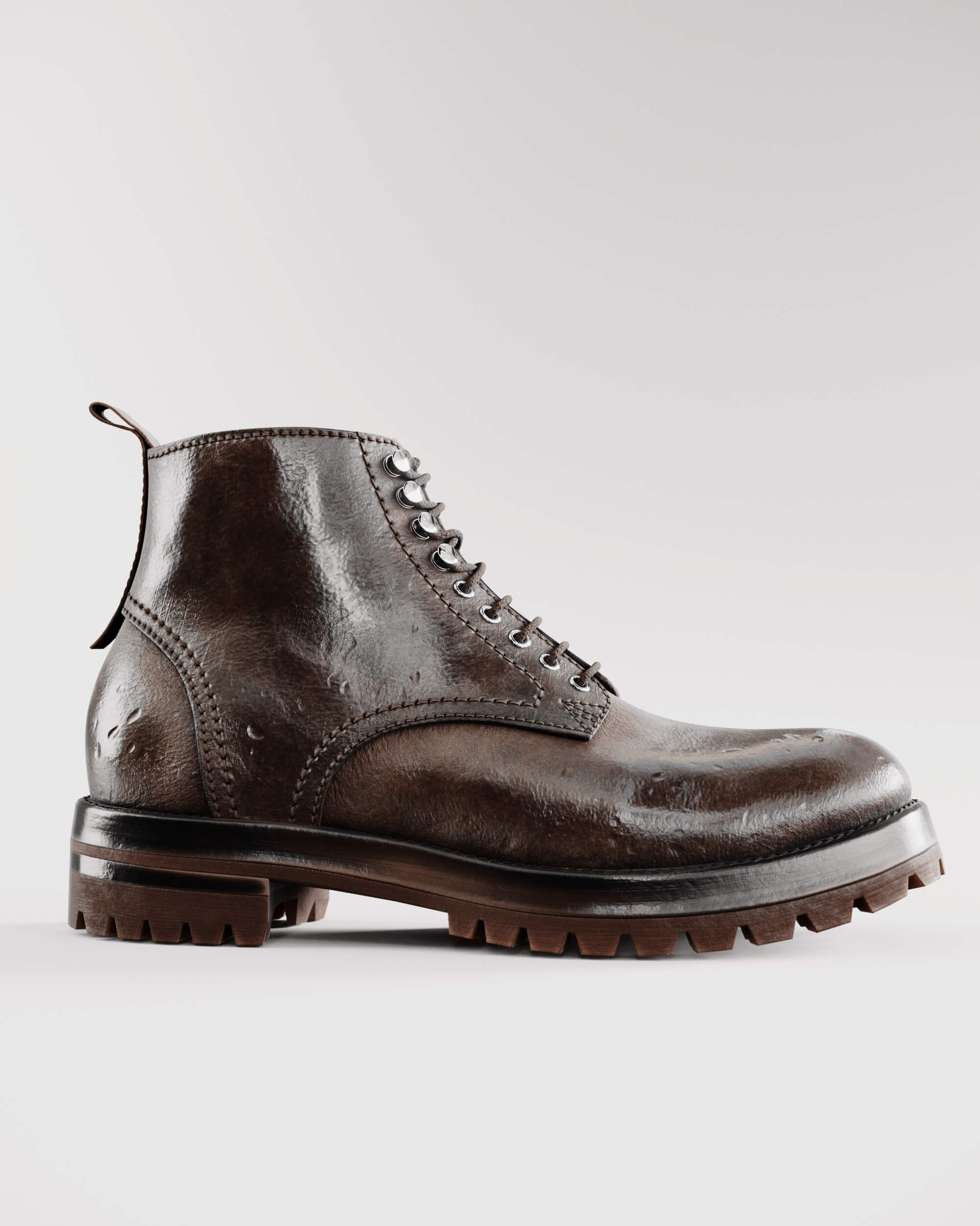 HQ image render of leather boot